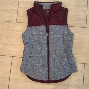 North Face color block vest
